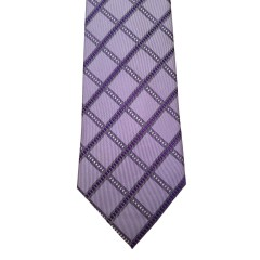 Purple Silk Stripes Wide Tie | Foster Stripe