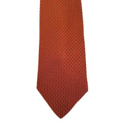 Orange Silk Solid Wide Tie | Burnt Orange