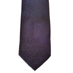 Black Silk Solid Wide Tie | Crackled Black
